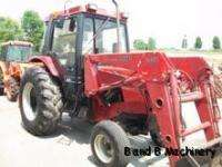 Case International 685 Diesel Farm Tractor With Cab & Loader