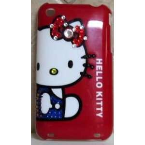 HELLO KITTY IPHONE CASE IPHONE 3G CASE W/ SWAROVSKI BLING