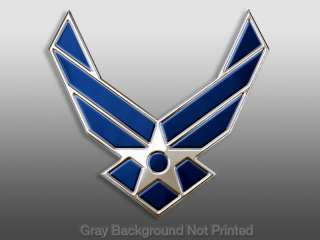 USAF Wings Sticker   pro Air Force stickers military us