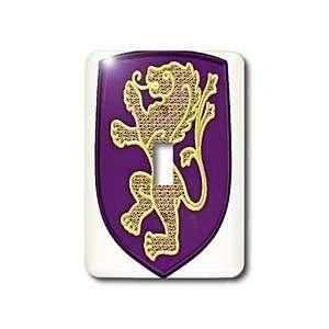 Lee Hiller Designs Heraldic Symbols   Lion   Gold Lion on