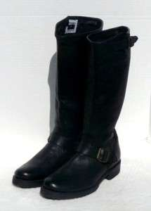 328 FRYE VERONICA SLOUCH ENGINEER/MOTORCYCLE BOOTS SZ 8 BLACK