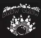 BREW CREW Black Classic retro bowling shirt DRINK & BOWL Darts or Pub