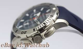 new 2011 NAUTICA MENS BFD 101 BLUE CHRONO 330FT WATCH