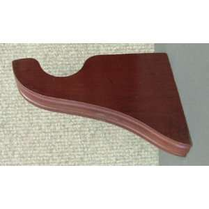 Center Support Bracket in Mahogany finish for a 1 3/8