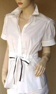 GUCCI Authentic New Womens Top Shirt Blouse sz 4   40 Cotton Blend