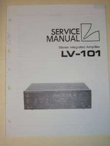 Luxman Service Manual~LV 101 Amplifier/Amp~Original
