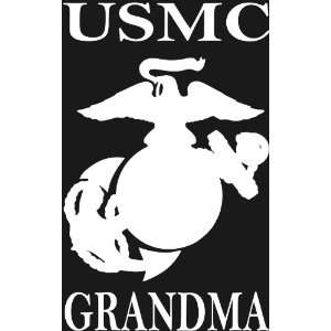 USMC GRANDMA Eagle, Globe & Anchor white window or bumper