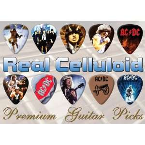 AC/DC Premium Guitar Picks X 10 (0) Musical Instruments