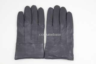 Leather Black Gloves Halloween Costume Party Fancy Dress Showtime