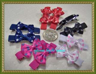 small girl hair clip pin bow Barrette TODDLER Dog 25