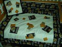 Nursery Crib Bedding Set made w/ New Orleans Saints NFL fabric NEW