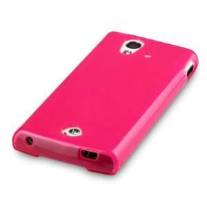 HOT PINK, WITH QUBITS BRANDED MICROFIBER CLEANING CLOTH Cell Phones