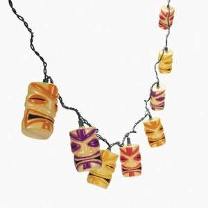 Sets Tiki Head String Lights Luau Tropical Party Decor Patio Camper