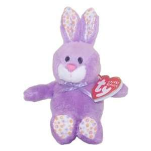 TY Basket Beanie Baby   BLOOM the Purple Bunny Toys & Games