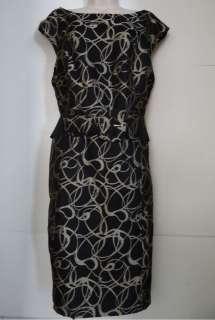Signature Robbie Bee new black & Gold career versatile dress womens 18