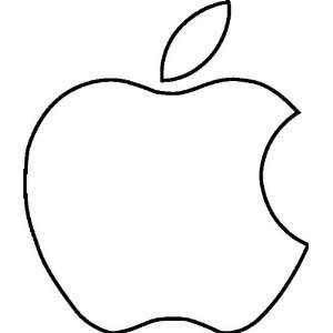 Apple Logo Vinyl Decal white