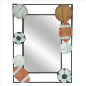 Crestview CVMRA227 Metal Sports Wall Mirror