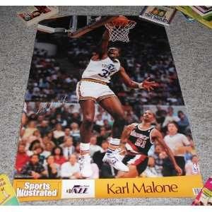 NBA Karl Malone Utah Jazz Poster Laminated