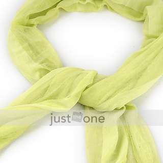 women lady girl candy color soft long scarf wrap shawl article nr