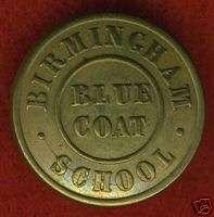 1800 England Birmingham BLUE COAT School button