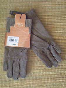 Isotoner LARGE Womens Iso Suede Leather Gloves Army