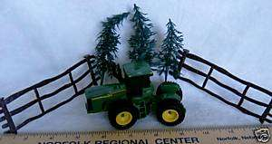 CAKE TOPPER DECORATION John Deere tractor farming fence