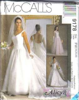 OOP Bridal Wedding Gown Bridesmaid Dress Plus Size McCalls Sewing
