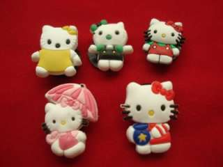 13 pcs cute Hello Kitty Shoe Chamrs Fit Crocs Jibbitz