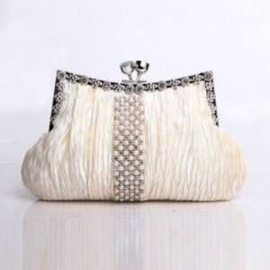 Vintage Luxurious Pearl & Rhinestone Evening Bag Wedding Party Clutch