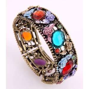 Fashion Jewelry Antique Metal Multi Mixed Rhinestone Acrylic Jewelry