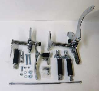 CHROME FORWARD CONTROLS FOR HARLEY XL SPORTSTER 79 81 HARDWARE PEGS