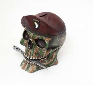 us army skull coin money bank 6 1 4 h made