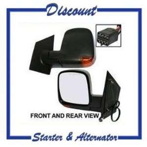 New Left Side Mirror Express Van 2003 2008, Power Heated w/Turn Signal