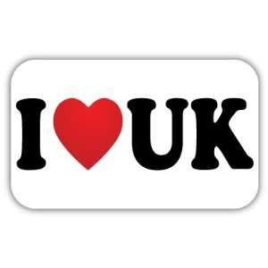 I Love UK United Kingdom Car Bumper Sticker Decal 5 X 3