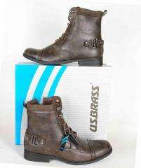 Mens Military Combat Style Boots in Black or Brown Size 6, 7, 8, 9, 10