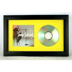 CD display frame Black w/ Yellow mat for CD & Cover Art Home