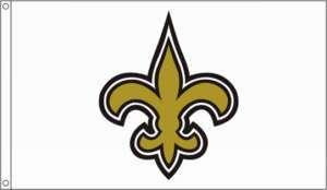 New Orleans Saints 3x5 Logo Flag