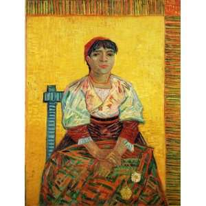 The Italian Woman: Vincent van Gogh Hand Painted Art: Home & Kitchen