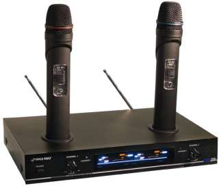 Pyle 2 Channel VHF Wireless Microphone System PDWM3000 068888874625