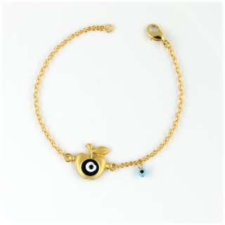 GOLD PLATED EVIL EYE GREEK MATI BRACELET