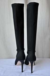 MARIO PROLOFRIA Boot*Stretch*Tall High Heel Black 9 39