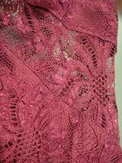 AUT $ 720 D&G Dolce & Gabbana lace sheath dress silk Cocktail Dress S