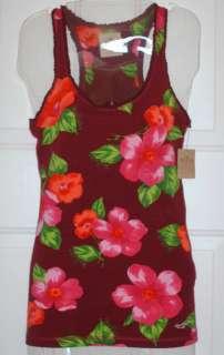 NWT Hollister womens junior floral tank top shirt S M L