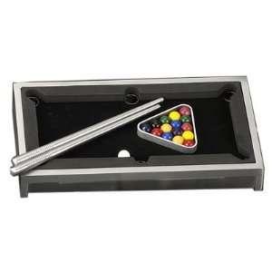 Mini Table Top Billiards Set, Tarnish Proof Toys & Games