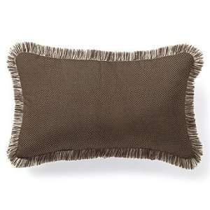 Outdoor Outdoor Lumbar Pillow in Vibe Brown with Fringe