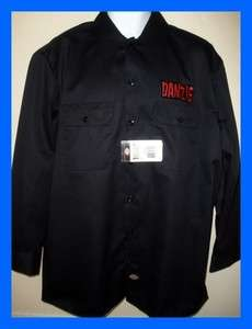 DANZIG DICKIES WORKSHIRT t shirt PUNK ROCK METAL MISFITS NEW
