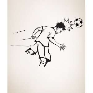Vinyl Wall Decal Sticker Soccer Football Player Hit