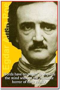 Poe   Words have no power American AUTHOR New Classroom POSTER