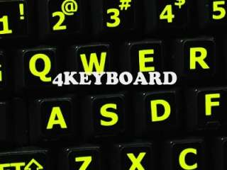 English US Glowing Fluorescent keyboard stickers are vibrant, bright