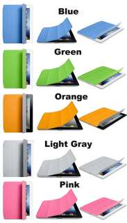 New iPad 3 Original Magnetic Smart Cover Leather Case Stand Wake/Sleep